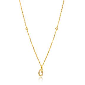 Qhaaf Letter Arabic Alphabet Design Wholesale Handmade 925 Silver Sterling Necklace