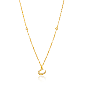 Te Letter Arabic Alphabet Design Wholesale Handmade 925 Silver Sterling Necklace