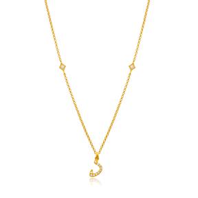 Daal Letter Arabic Alphabet Design Wholesale Handmade 925 Silver Sterling Necklace