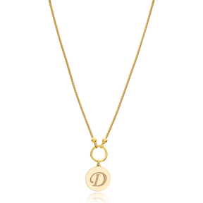 Latin Alphabet Letters Snake Chain 925 Sterling Silver Turkish Wholesale Necklace