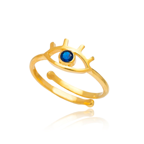 Evil Eye Design Ring 925 Sterling Silver Wholesale Handcrafted Jewelry