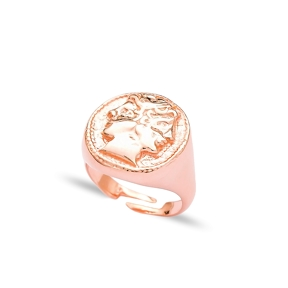 Medallion Design Adjustable Ring Wholesale  925 Silver Sterling Jewelry