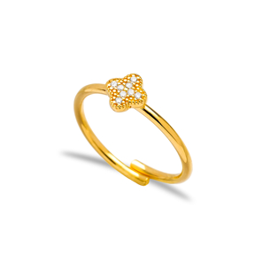 Clover Design Adjustable Ring Wholesale  925 Silver Sterling Jewelry