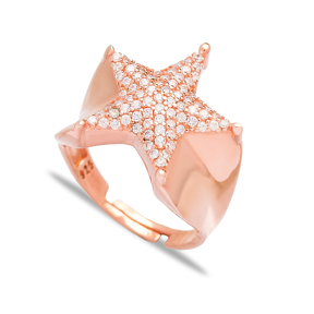 Star Design Adjustable Ring Wholesale 925 Silver Sterling Jewelry