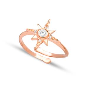 Pole Star Design Elegant Adjustable Ring Turkish Wholesale 925 Silver Sterling Jewelry