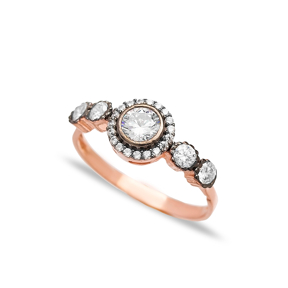 Zircon Stone Trendy Handmade Ring Wholesale 925 Sterling Silver Jewelry