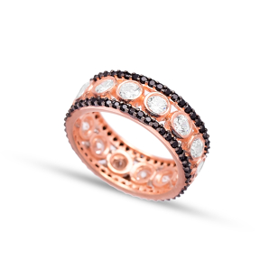 Dainty Zircon Band Ring Wholesale Handmade 925 Sterling Silver Jewelry