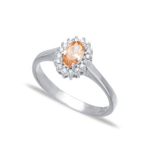 Dainty Minimalist Citrine Stone Turkish Rings Wholesale Fashion 925 Sterling Silver Jewelry