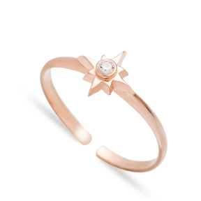 North Star Adjustable Ring Compass Design Wholesale Turkish 925 Sterling Silver Jewelry