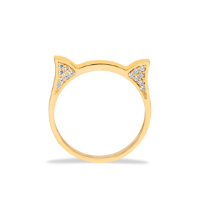 Dainty Cat Head Ring Kitten Turkish Wholesale 925 Silver Sterling Jewelry
