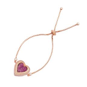 Heart Tennis Bracelet, Wholesale Handmade Turkish Adjustable Tennis Silver Bracelet