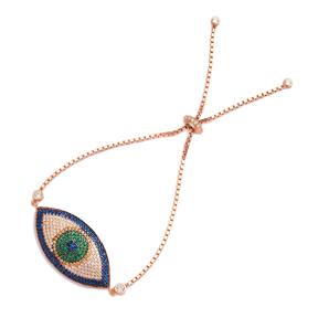 Sterling Silver Wholesale Handcraft Evil Eye Tennis Bracelet