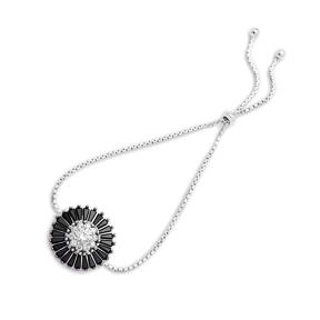 925 Silver Baguette Shape Charm Tennis Bracelet Wholesale Handcrafted Jewelry