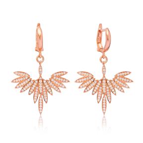 Phoenix Design Earrings Turkish Wholesale 925 Sterling Silver Jewelry