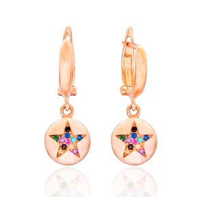 Simple Star Design Turkish Wholesale 925 Sterling Silver Jewelry Earring