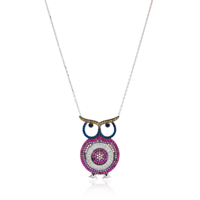 Turkey In Owl Charm 925 Silver Pendant Wholesale Sterling Silver Jewelry