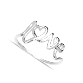 Handwriting Love Design Wholesale Handcrafted Silver Ring