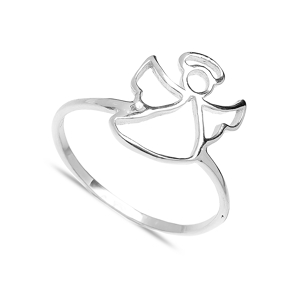 Minimalist Angel Design Wholesale Handcrafted Silver Ring