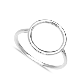 Round Hollow Design Wholesale Handcrafted Silver Ring