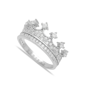 Crown Design Turkish Wholesale Handcrafted Silver Ring
