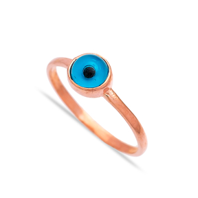 Evil Eye Design Turkish Wholesale Handcrafted Infinite Silver Ring