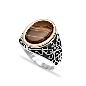 Tigereye Authentic Men Ring Wholesale Handmade 925 Sterling Silver