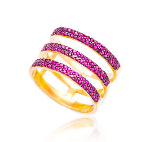 Triple Pave Band Ring Wholesale Turkish Handcrafted 925 Sterling Silver Jewelry