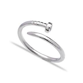 Wholesale Handcrafted Silver Adjustable Nail Ring