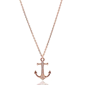 Turkish Wholesale Handcrafted  925k Sterling Silver Anchor Pendant