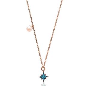 Nano Turquoise Minimalist Turkish Wholesale Silver North Star Pendant