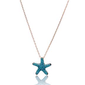 Nano Turquoise Turkish Wholesale Silver Starfish Pendant